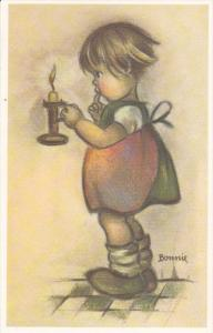 AS: Bonnie, Little Girl Holding a Candle, 30-50´s