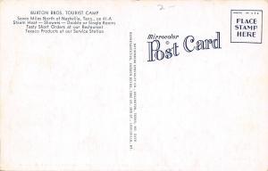 Nashville Tennessee~Burton Bros Tourist Camp~Texaco~Short Order Cook~1940s PC