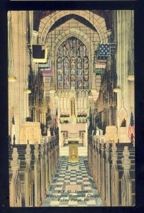 Valley Forge, Pennsylvania/PA Postcard, Washington Memorial Chapel, 1947!