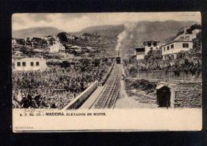 035295 PORTUGAL MADEIRA Train on lift Vintage PC