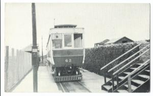 Manx Electric Railway, No 62 at Bulgham Temporary Station, 1967 PPC, Unposted