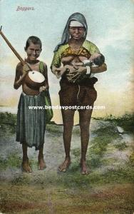 Native Beggars, Breast Feeding, Music Instrument (1910s)