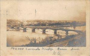 F54/ Peru Indiana RPPC Postcard c1910 $40k Concrete Bridge