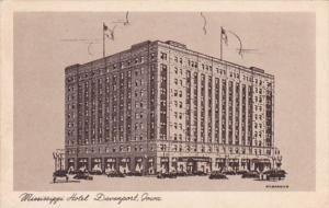 Iowa Des Moines The Mississippi Hotel 1958