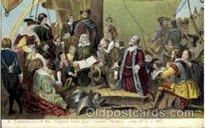 Embarkation pf Pilfrims from Delft Haven American History Postcard Post Card ...