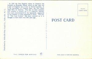 Roanoke Island, NC, Entrance, Fort Raleigh Reservation, Vintage Postcard