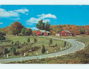 1968 Greetings From - Barn At Curve In Road Bloomsburg Pennsylvania PA Q7697