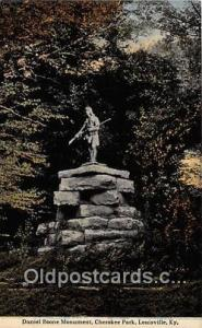 Statue Postcard Louisville, KY, USA Daniel Boone Monument