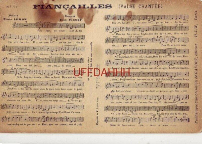 No. 17 FIANCAILLES (Valse Chantee) FABRICE LEMON - EMILE WESLY