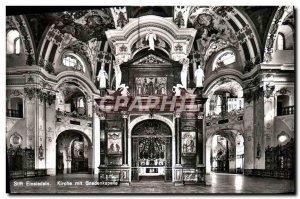 Modern Postcard Stift Einsledeln Kirche mit Gnadenkapelle