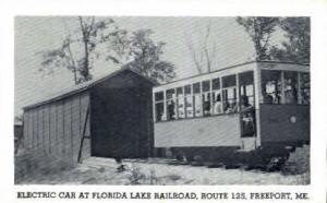 Electric Car, Florida Lake Railroad Freeport ME Unused