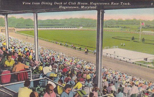 Maryland Hagerstown View From Dining Deck Of Club House Hagerstown Race Track...