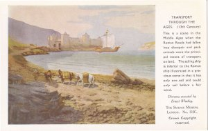 Transport Through The Ages 13th Century Ship Postcard
