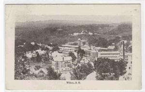 Panorama Wilton New Hampshire 1921 postcard