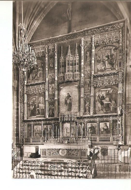 Postal 021885 : Retablo del Altar Mayor, real monasterio de Santo Tomas (Avila)