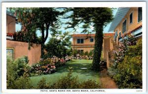 SANTA MARIA, California  CA   Patio at SANTA MARIA INN  ca 1920s  Postcard