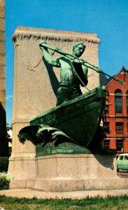 Massachusetts New Bedford Whaleman Statue 1958