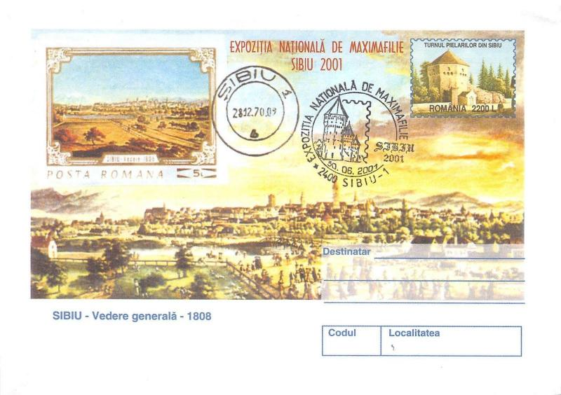 B3388 Entier Postaux Postal Cover Romania National Maximaphilie  front/back scan