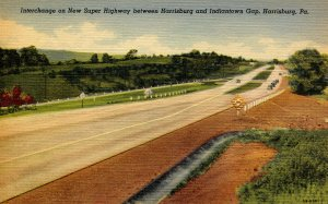 PA - Pennsylvania Turnpike. Interchange Between Harrisburg & Indiantown Gap