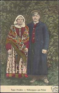 poland, Polish Types, Costumes (1916) Fieldpost