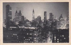 New York City Midtown Manhattan At Night 1939