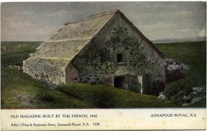 Old Magazine Built by the French 1642 Annapolis Royal NS Nova Scotia Canada DB