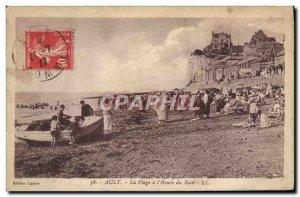Old Postcard Ault La Plage L & # 39Heure Bath