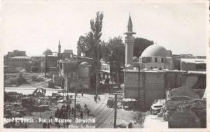 Damas Damascus Syria Mosque  Derwichie Real Photo Antique Postcard J61432
