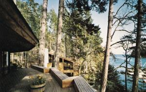 Pedder Bay, Deck of Dinning Hall, VICTORIA, British Columbia, Canada, 40-60´s