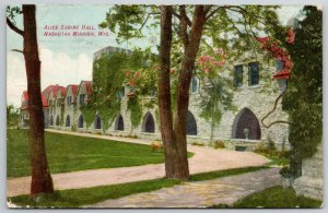 Nashotah Mission Wisconsin~Long Arch Colonnade on Alice Sabine Hall c1910 PC