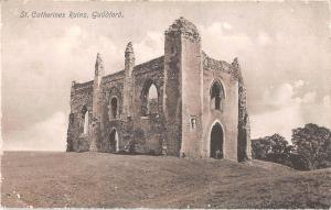 uk18386 st catherines ruins guildford real photo uk