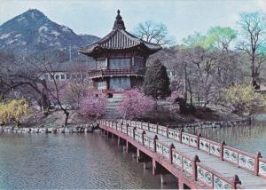 Hyangweon-ieong Pavilion at Gyeongbog Palace, SOUTH KOREA, 50-70's