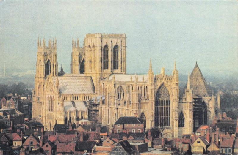 Postcard YORK MINSTER North Yorkshire EXCLUSIVE colour picture by B.K Grayson