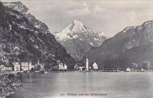 Swtzerland Fluelen und der Bristenstock