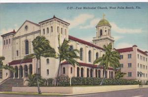 Florida West Palm Beach First Methodist Church Curteich