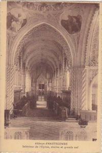 France Abbaye d'Hautecombe Interieure de l'Eglise stalles et grande nef