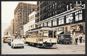Minnesota, Minneapolis, vintage trolley, reproduction, unused