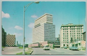 Rochester New York~Midtown Office Building & Shopping Mall~Laundromat~1950s Cars