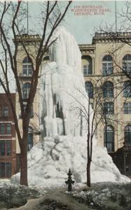 DETROIT ,  Michigan , 1901-07 ; Ice Fountain , Washington Park
