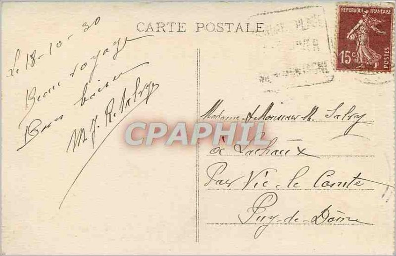 Old Postcard Hendaye B Pyr Casino of the Plague left the Rocks