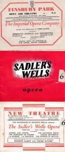 Sadlers Wells Ballet 1955 1956 7x London Opera Theatre Programme s