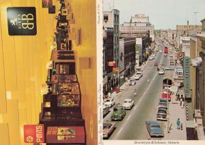 Downtown Kitchener Shops Eastgate Square Hamilton x Canada Canadian 2x Postcard