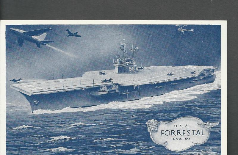 USS Forrestal Post Card