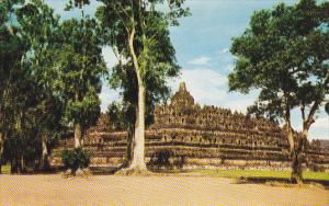 Indonesia Borobudur Famous Temple Built In 8th Century In Central Java