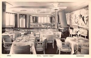 White Star Line Cunard Ship Post Card, Old Vintage Antique Postcard Grill, RM...