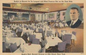 NEW YORK CITY , 30-40s ; Rudy's Rail Restaurant