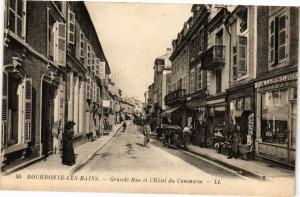 CPA Bourbonne les Bains - Grande Rue et l'Hotel du Commerce (270456)