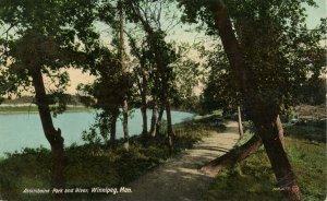 Canada - Manitoba, Winnipeg. Assiniboine Park and River