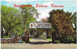 Greetings From Salina, Kansas.  Stamp # 2051 '84 Olympics Boxing