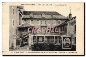 Postcard Old Savoie Tourism Aix les Bains House Lamartine